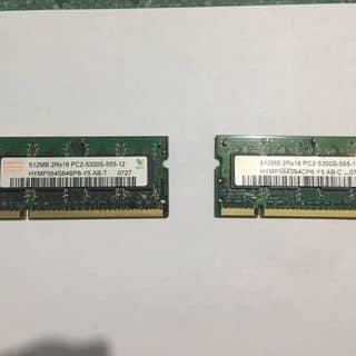 2 Thanh RAM Laptop (Mỗi thanh 512MB) 2Rx16 PC2-5300S-555-12 của tamus1511 tại Bình Định - 3687711