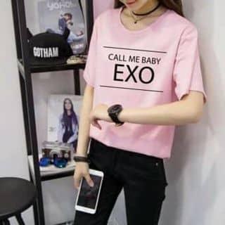 Áo Thun Nữ Tay Lỡ Chữ EXO Cực hot TG078-1 (HỒNG) của maithy02022005 tại Hồ Chí Minh - 3457205