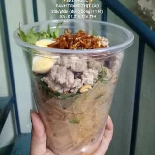 Bánh tráng thịt xào 20k/phần (đựng trong ly 1 lít) của lamkhietblue tại 436/13 Cách Mạng Tháng Tám, phường 11, Quận 3, Hồ Chí Minh - 2869648
