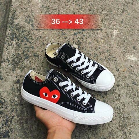 f40e4bf4a7ed Comme Des Garcons Play X Converse Chuck Taylor - Hidden Heart Low Top  Sneaker