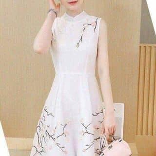 Đầm cổ tàu in hoa đào 3d xinh iu Chất liệu: voan cao cấp,mịn đẹp Giá 250k của ngalekim1985 tại Hồ Chí Minh - 3446145