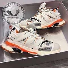 Balenciaga Balenciaga White Orange Track Sneakers Grailed