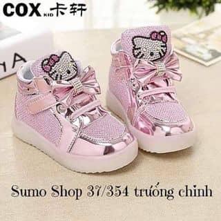 Giày kitty có đèn Chất liệu da ánh nhũ, hình kitty đính đá xinh xắn, đế có đèn nhấp nháy Size 21-30 #185k của jojosophie tại Hồ Chí Minh - 3513953