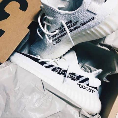 46cbc48ba1d92 Giày Sneaker Nam Nữ OFF WHITE x Adidas Yeezy Boost 350 V2 SPLY tại 1 ...