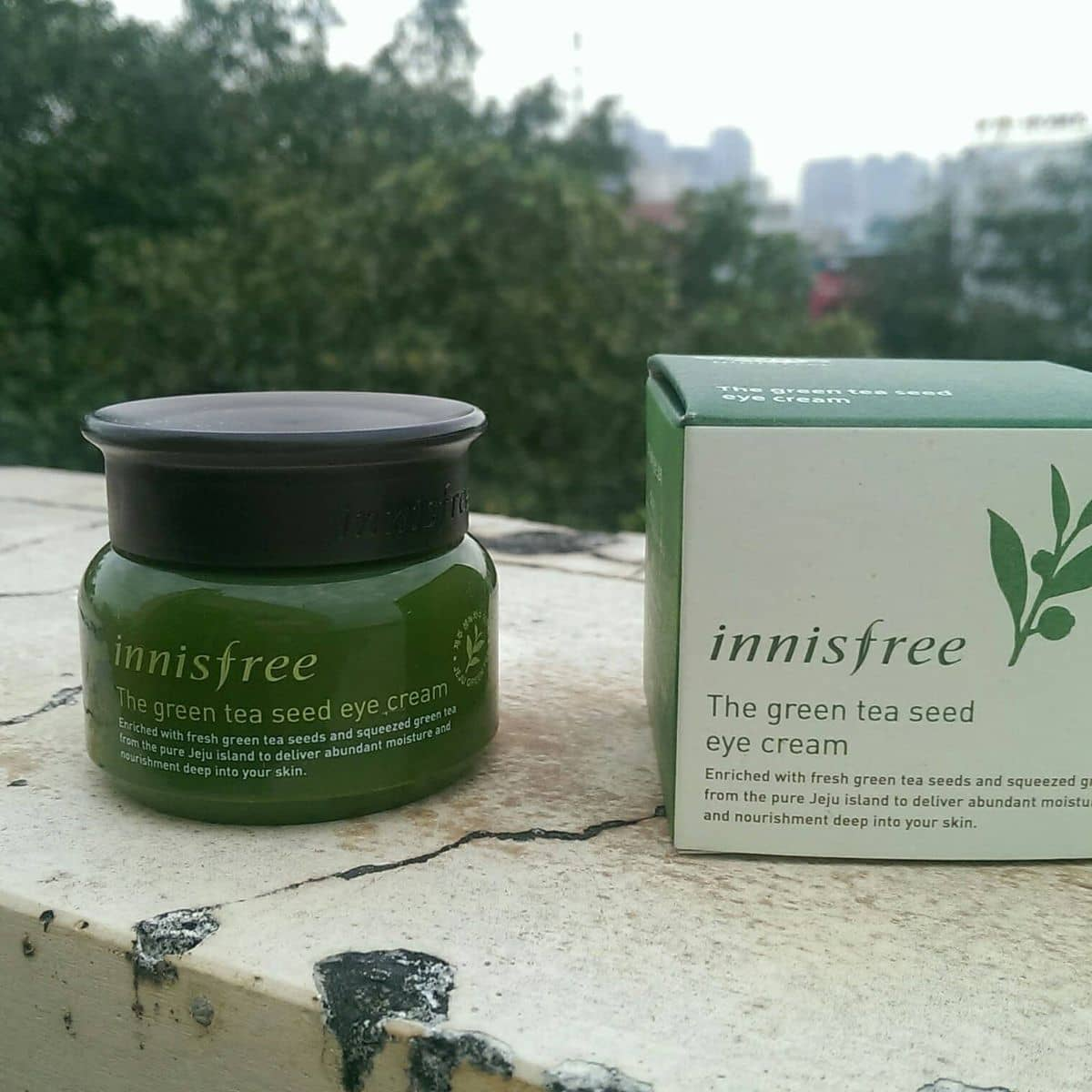 Kem Dng Mt Innisfree Green Tea Seed Eye Cream Ti Habigarden Ca Lozi