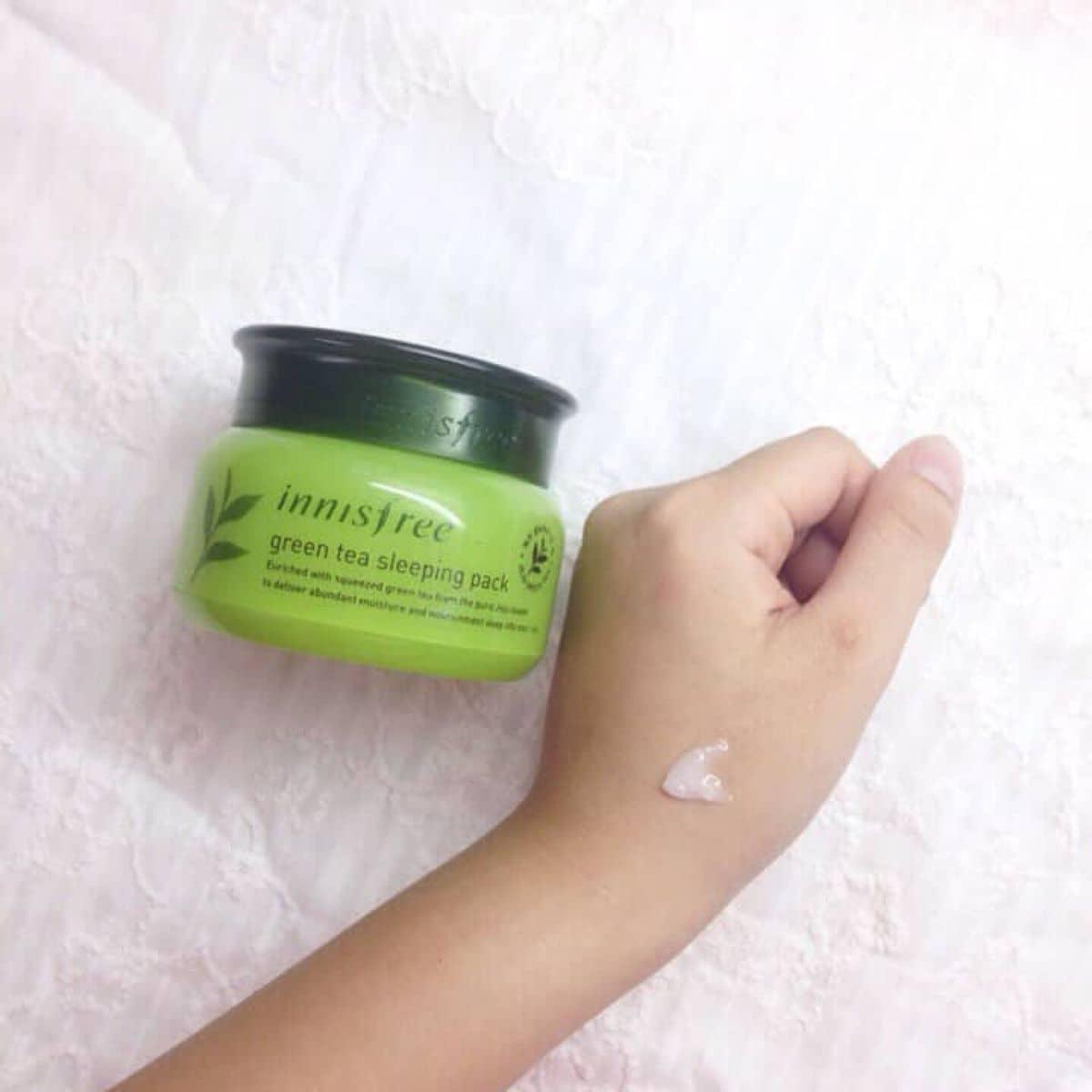 Mt N Ng Innisfree Green Tea Sleeping Pack Ti Bieostore Instagram Ca Phng Anh Lozi