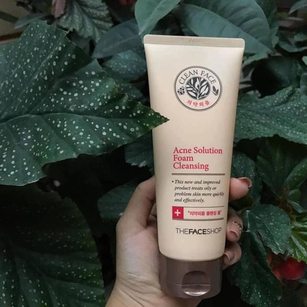 Kết quả hình ảnh cho Acne Solution Foam Cleansing The Face Shop