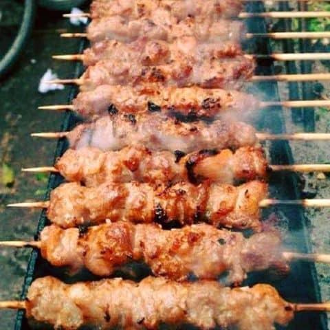 Nướng thịt xiên